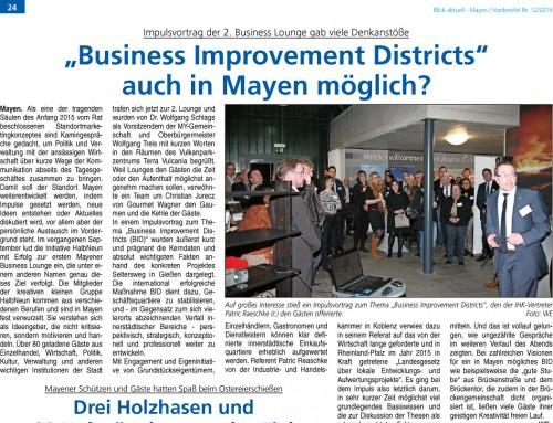 2. Mayener Business Lounge – Berichterstattung der lokalen Presse