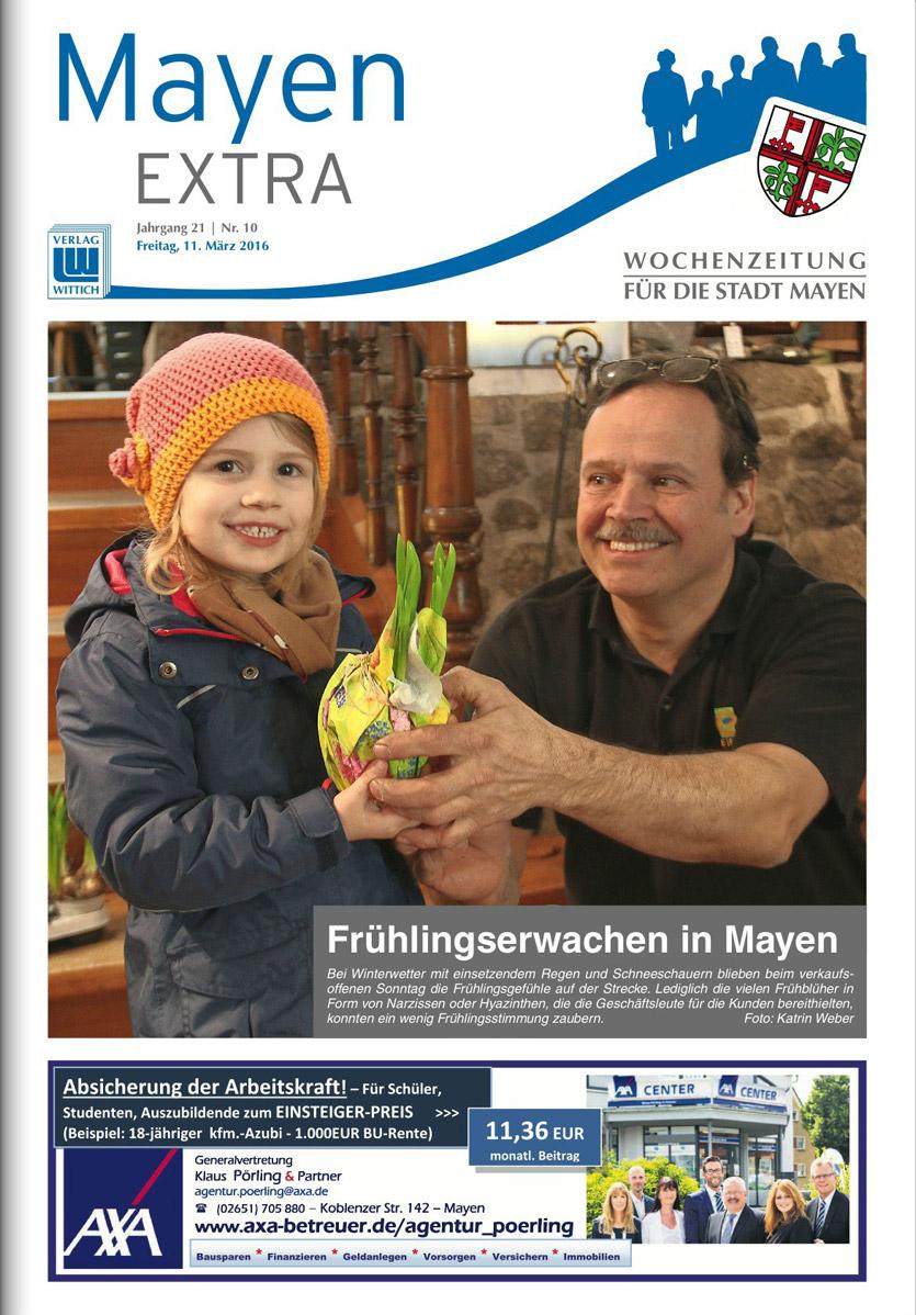 Berichterstattung Mayen Extra Start in den Frühling 2016