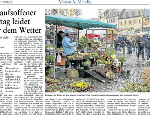 Start in den Frühling 2016 – Berichterstattung Rhein-Zeitung