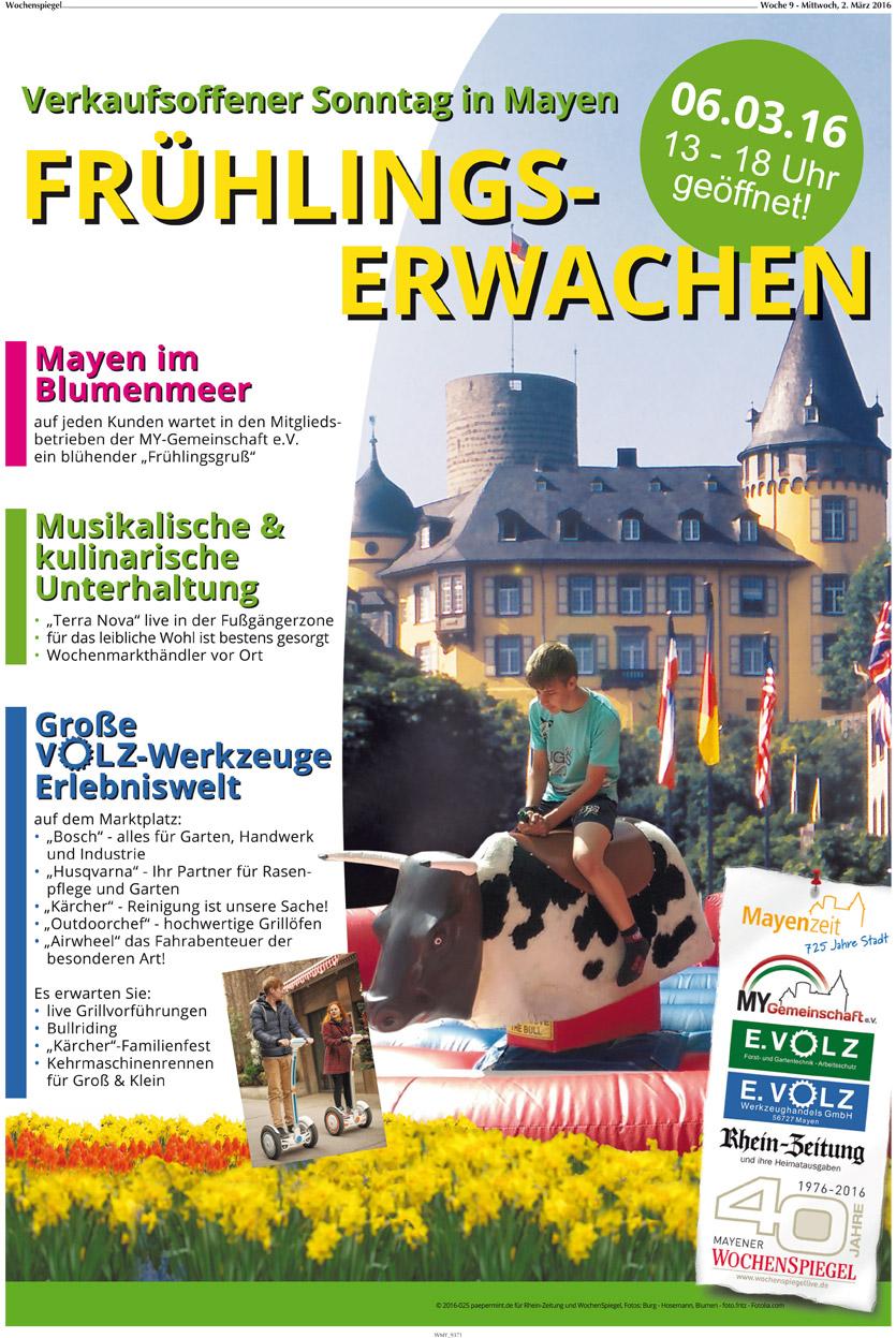 Berichterstattung Wochenspiegel Start in den Frühling 2016