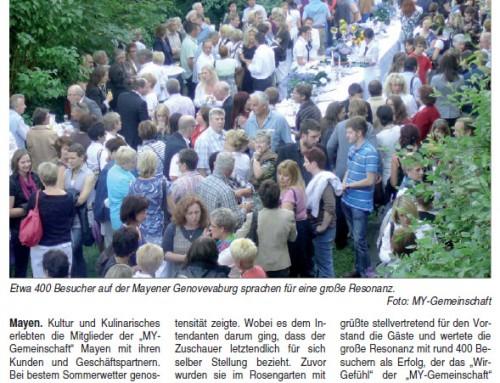 Burgfestspielabend 2010 – Berichterstattung der lokalen Presse