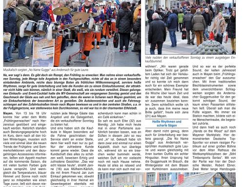 Start in den Frühling 2013 – Berichterstattung Blick Aktuell