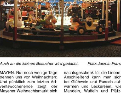 Mayener Weihnachtsmarkt 2015 – Berichterstattung Mayen Extra