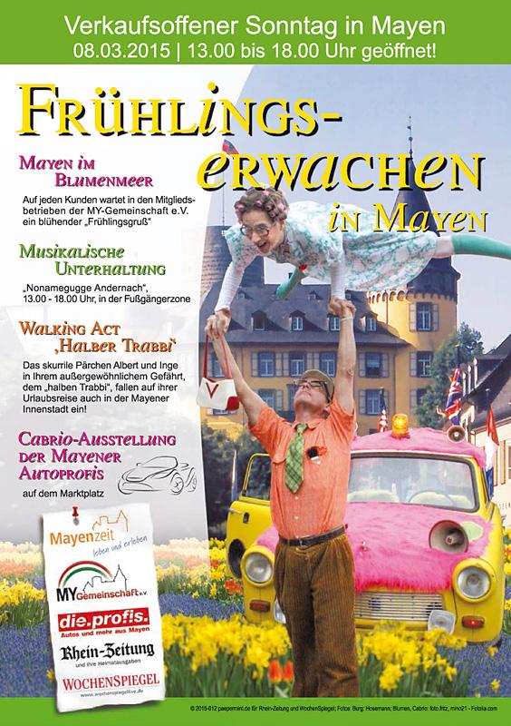 Plakat Start in den Frühling 2015