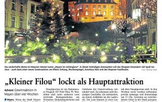 Rhein-Zeitung vom 15.11.2011