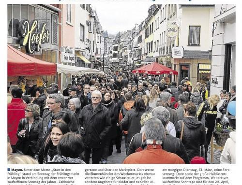 Start in den Frühling 2012 – Berichterstattung Rhein-Zeitung