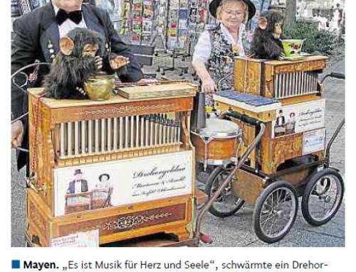 Drehorgelfestival 2012 – Berichterstattung Rhein-Zeitung