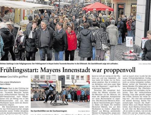 Start in den Frühling 2013 – Berichterstattung Rhein-Zeitung