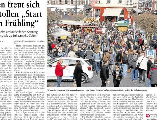 Start in den Frühling 2015 – Berichterstattung Rhein-Zeitung
