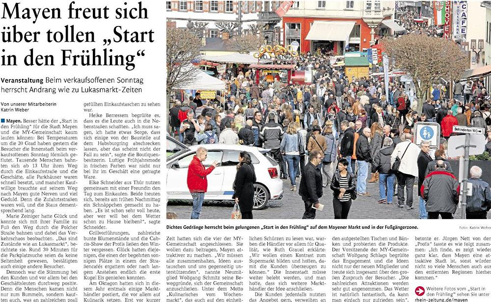 Rhein-Zeitung vom 10.03.2015