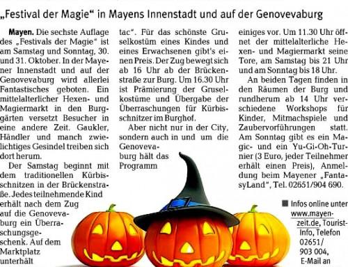 Festival der Magie 2010 – Berichterstattung der lokalen Presse