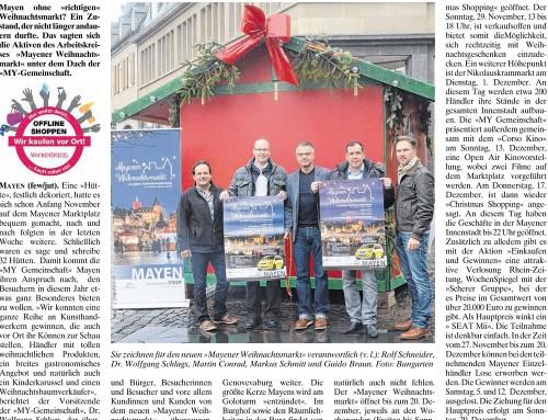 Mayener Weihnachtsmarkt 2015 – Berichterstattung WochenSpiegel