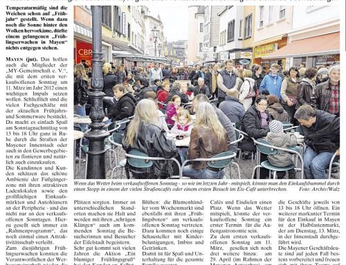 Start in den Frühling 2012 – Berichterstattung WochenSpiegel