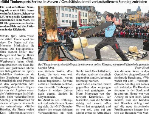 Start in den Frühling 2013 – Berichterstattung WochenSpiegel