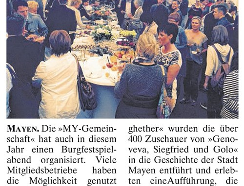 Burgfestspielabend 2015 – Berichterstattung der lokalen Presse