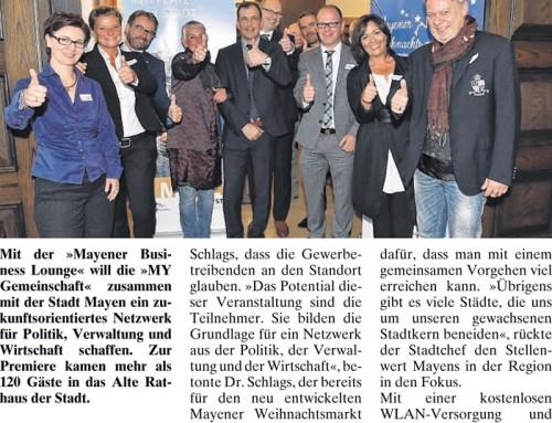 1. Mayener Business Lounge – Berichterstattung der lokalen Presse