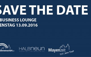 Save the Date 3. Business Lounge